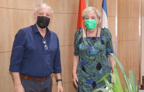 ראש העיר נתניה, מרים פיירברג-איכר, אירחה בשבוע האחרון את שר הרווחה והבטחון החברתי, מאיר כהן וצוותו