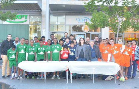 שחקני ליגת הנוער של נתניה נערכים ל-2015