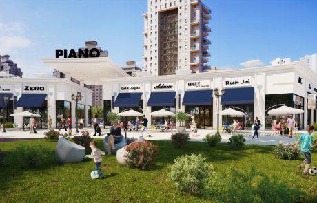 מתחם קניות חדש בנתניה בעיר ימים  – PIANO (פיאנו)