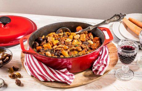 תבשיל בקר עם קטניות איטלקיות