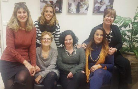 הנשים של הנהלת מחוז שרון שומרון בכללית בפגישה לקראת יום האישה הבינלאומי 2017