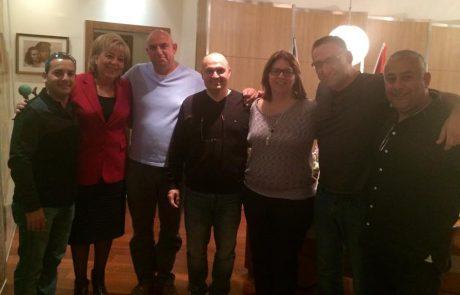 דיווח מפגש עם ראש העיר מרים פיירברג איכר
